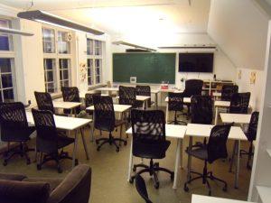 La classe des Ballons, les élèves âgés de 15 à 18 ans. Durant la période de ma visite, ils étaient en période d'évaluation et étaient souvent en classe.